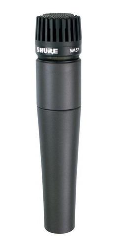 Imagen 1 de 2 de Micrófono Shure SM SM57-LC dinámico  cardioide negro