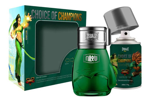 Imagem 1 de 1 de Kit Everlast Street Fighter Perfume + Desodorante