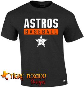 Playera Beisbol Mlb Astros Hou Mod L By Tigre Texano Designs