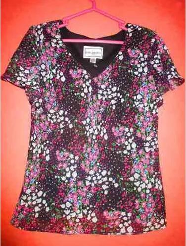 Blusa Para Dama Marca Karen Stevens Talla M Importado De Usa