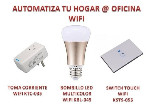 Imagen 1 de 1 de Wifi, Bombillos Led, Switch, Toma Corrientes