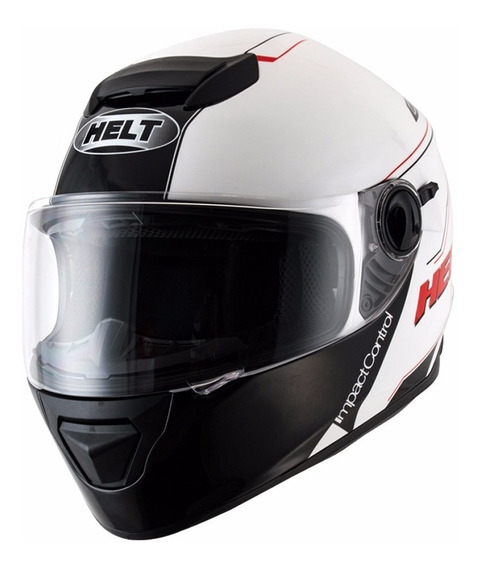 Capacete Helt Race Glass Blank C/ Oculos Viseira Interno (58