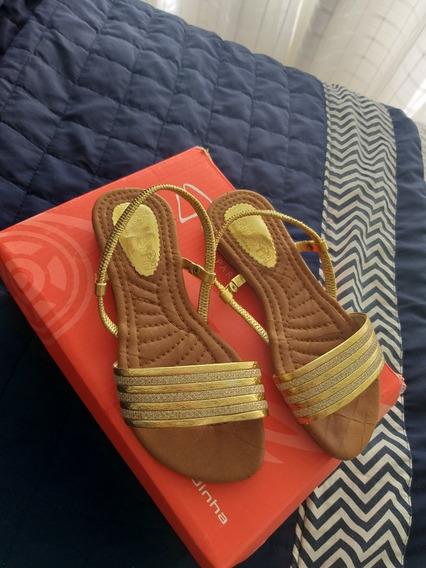Sandália Infantil Dourada N30