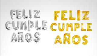 Globos Metalizados Féliz Cumpleaños Para Decorar Fiestas