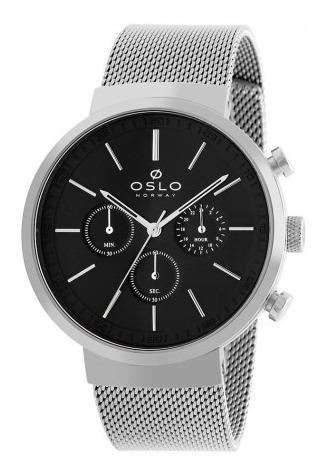 Relógio Oslo Ombsscvd0001 P1sx Slim Multifunção Original