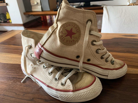 Zapatillas All Star Converse Alta Lino Original 37 Impecable