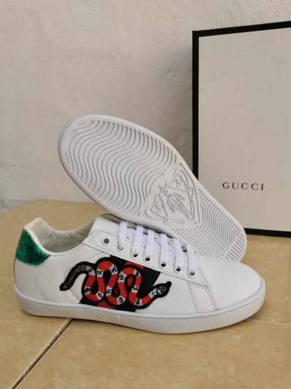 Tenis Gucci Unisex Nuevos Moda Dama Caballero =)