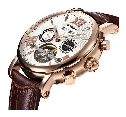 Relógio De Luxo Automático Binssaw Tourbillo Multifuncional