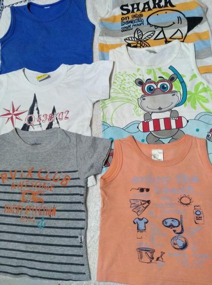 Lote 09 Peças Camisetas Calças Menino