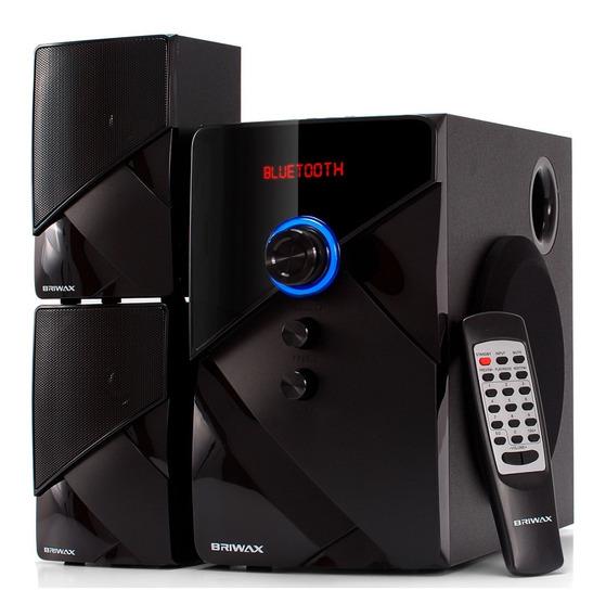Caixa De Som 2.1 Home Theater 50w Sistema Som Bluetooth Mp3 Subwoofer Tv Pc