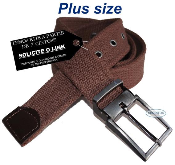 Cinto Plus Size Lona Premium 4cm Fiv C/ Regulagem L49 Cz 02