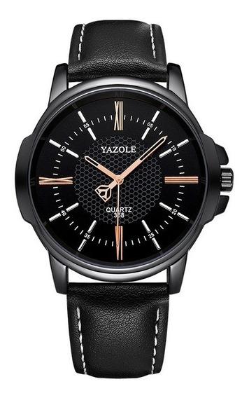 Reloj Para Hombre Elegante Color Negro Grande