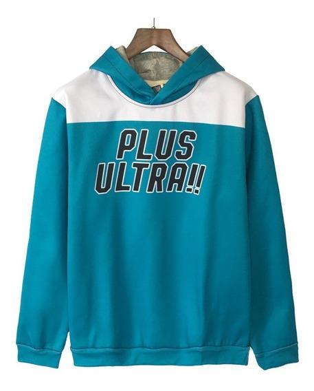 Blusa Moletom Capuz Plus Ultra Deku Boku No Hero Cosplay Ua