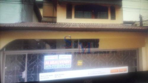 Imagem 1 de 30 de Sobrado Residencial À Venda, Parque Novo Oratório, Santo André. - So0028