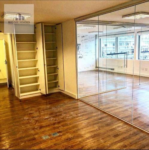 Sala Comercial Para Alugar No Paulista, Paraíso, 3 Divisórias, 2 Banheiros, 2 Vagas De Garagem, 84 M², São Paulo. - Sa0557