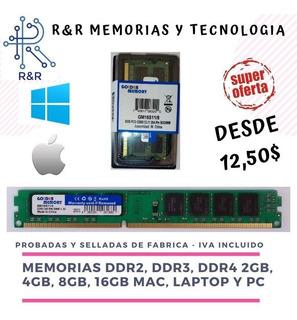 Memoria Ram Ddr2, Ddr3, Ddr4, 2 A 16gb Pc ,mac,laptop Nuevas
