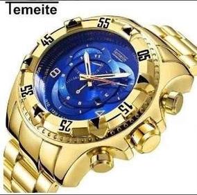 Relógio Masculino Temeite Aço Inoxidável Pront Entrega