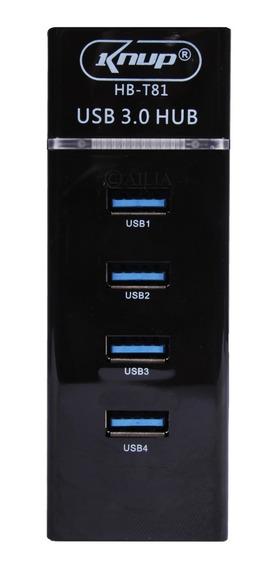 Expansor Hub Usb 3.0 4 Portas Com Led Super Rápido 5.0 Gbps