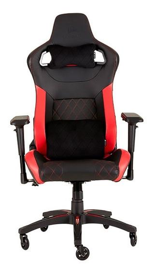Cadeira Gamer Corsair Até 120kg Cf-9010013-ww Preta/vermelha