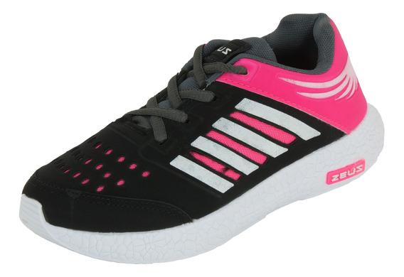 Tênis Feminino Infantil Esportivo Zeus Cores Variadas