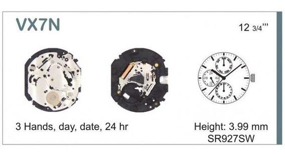 Maquina Vx7ne Para Relógios Orient, Seculus, Technos...