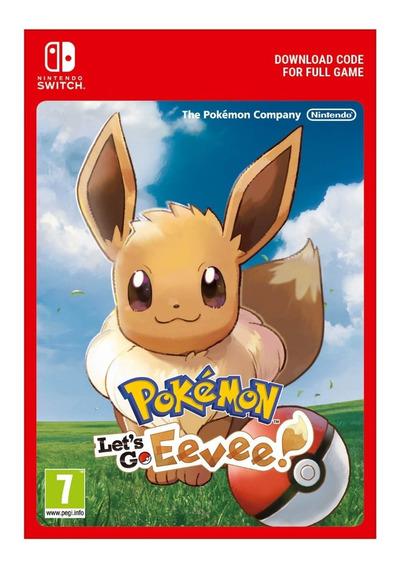 Pokémon Lets Go Eevee Nintendo Switch Código Digital Eshop
