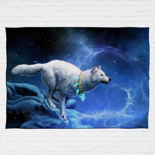 Stompy Bandeira Decorativa Wolf Lobo Selvagem Natureza