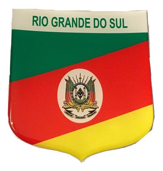 Adesivo Resinado Escudo Bandeira Estado Rio Grande Do Sul
