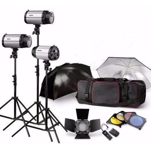 Estudio Fotografico Portátil- Conjunto C/ 3 Flashes De 250ws