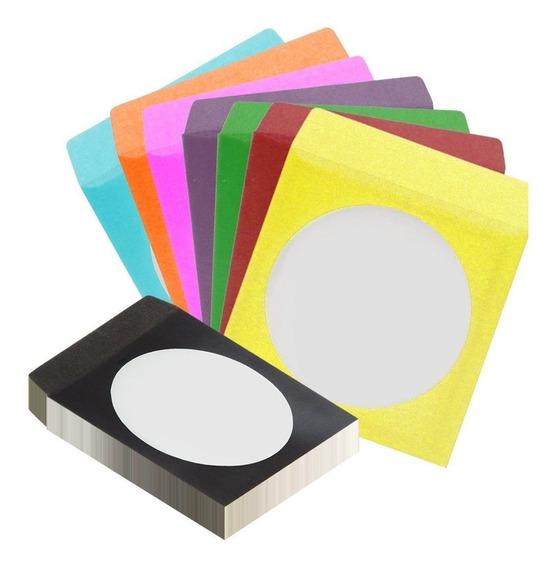 100 Envelope Papel Para Cd / Dvd Com Visor Transparente