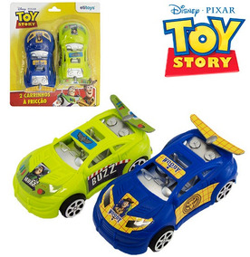Carro A Friccao Kit Com 2 Pecas Colors Toy Story Na Cartela