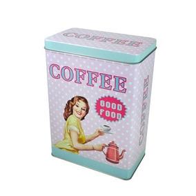 Conjunto De Latas Decorativas Coffee 02 Peças - 22247 F2c