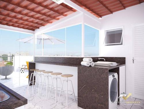 Cobertura Com 2 Dormitórios À Venda, 82 M² Por R$ 359.000,00 - Campestre - Santo André/sp - Co0824