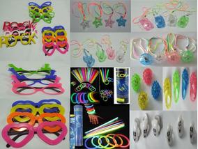 Kit Festas - Colar Pisca + Anel Pisca + Pulseira Neon+óculos