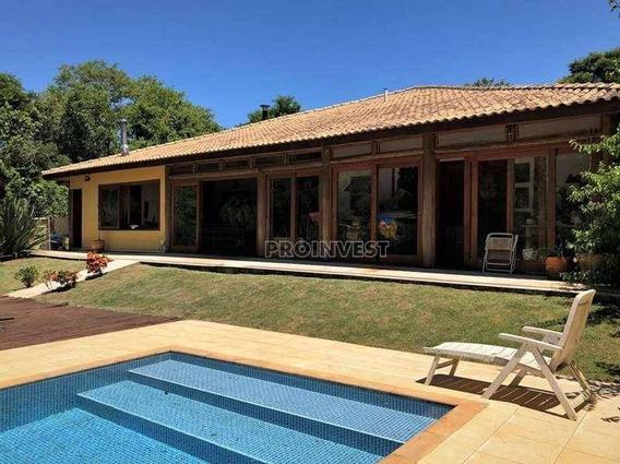 Linda Casa Em Projeto Rústico E Sofisticado Na Granja Viana - Ca16605