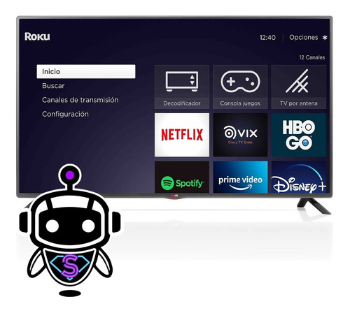 Tv LG Led 42 Full Hd = Tcl + Disney + Netflix + Gratis Roku
