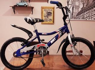 Bicicleta Bmx Rod 16 Aurorita Con Rueditas.