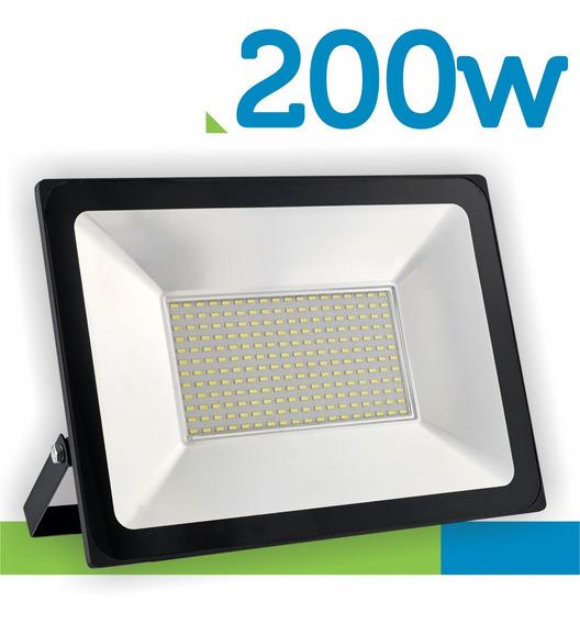 Refletor Led Smd 200w Super Holofote Prova Dagua Quadra 220v