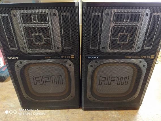 Par De Caixas Acústicas Sony Apm-d5 Originais