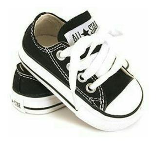 Tenis Negros Converse All Star 100% Originales Para Bebes