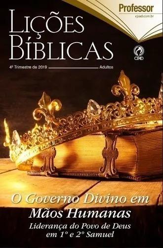 Revista Licoes Biblicas Professor Prof. 4º Tr. 2019 Cpad