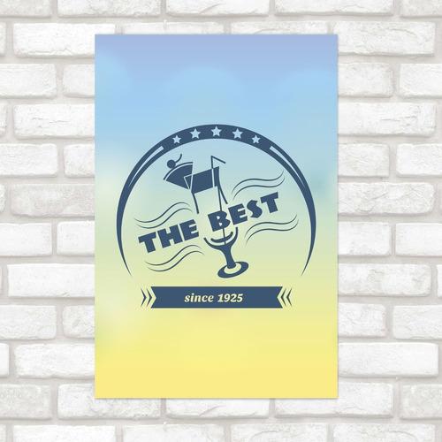 Imagem 1 de 2 de Poster Decorativo The Best N012162 30x40cm