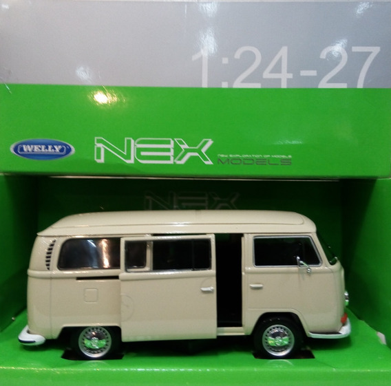 Camioneta Volkswagen Bus T2 1972 Escala 1/24