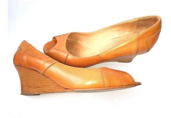 Garnié Cómodos Zapatos 100% Cuero Beige.