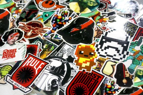 30 Calcomanías Star Wars Stickers Etiqueta Alta Calidad