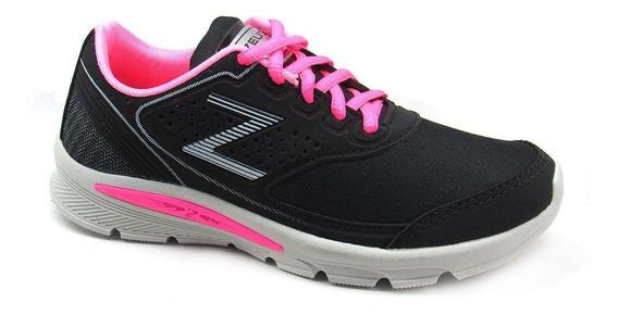 Tênis Esportivo Feminino Zeus Wax Caminhada Academia Confort