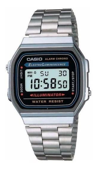 Relógio Casio Unissex Digital A168wa-1wdf Original + Nf