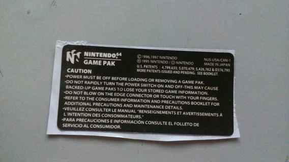 Label Traseira Americana Para Nintendo 64 N64
