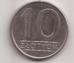 Polonia Moneda De 10 Zlotych Año 1986