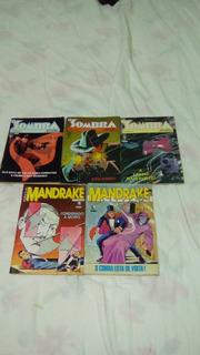 Revista Hq Mandrake E O Sombra 10 Unidades Anos 80